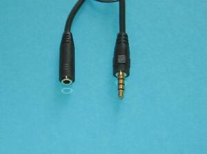 2 Pk 1 2m 3 5mm 4 Position Trrs Headset Extension Cable M F Audio For Iphone Ebay