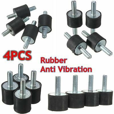 4Pcs M5/M6/M8 Anti Rubber Vibration Mounts Isolators Bobbins Silentblock Pump