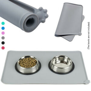 Pet-Dog-Cat-Bowl-Mat-Feeding-Water-Food-Pad-Dish-Tray-Clean-Floor-Silicone-Mat