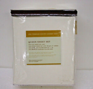 Cheldon-Queen-Size-6-piece-Sheet-Set-100-Cotton-350-Thread-Off-White-Eggshell