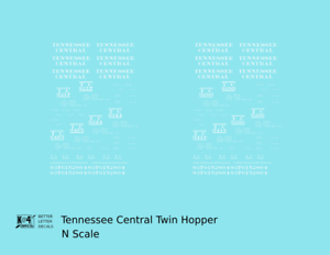 K4-N-Decals-Tennessee-Central-Offset-Twin-Hopper-White