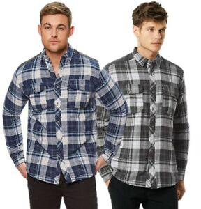REGATTA-MENS-TYRION-FLEECE-LINED-WINTER-CHECK-SHIRT-GREY-or-BLUE-RMS113