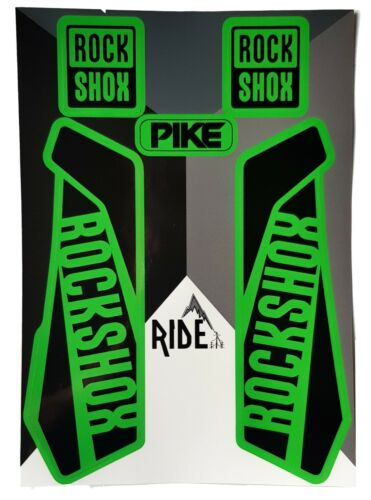 DH  Rockshox Pike Stickers and Decals,PREMIUM QUALITY Green Enduro