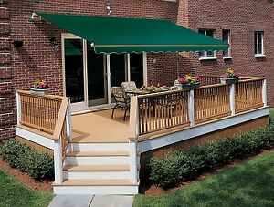 Image Is Loading 13 FT SunSetter VISTA Manual Retractable Awning Outdoor