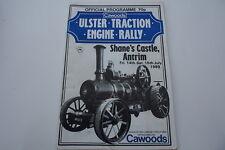 BALLYMENA ULSTER TRACTION ENGINE RALLY IRELAND PROGRAM SHANES CASTLE ANTRIM 1989