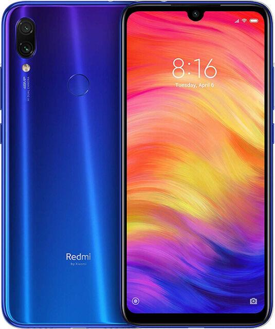 Xiaomi Redmi Note 7 4GB 128GB BLU Smartphone Versione Globale COVER E PELLICOLA