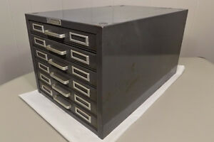 Steelmaster 6 Drawer Index Card File Cabinet Industrial