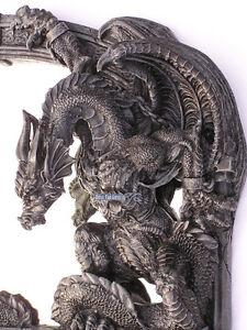 drachen spiegel figur d mon teufel fantasy horror figur statue m bel gothic deko ebay. Black Bedroom Furniture Sets. Home Design Ideas