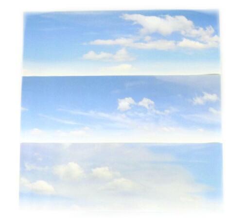 1372x152mm Gaugemaster Cloudy Sky Small Photo Backscene N Gauge GM755