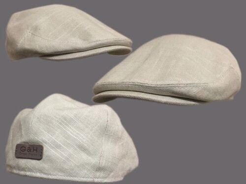 G/&H 6 PENCE summer hat farmer flat cap classic English grandad flat cap linen