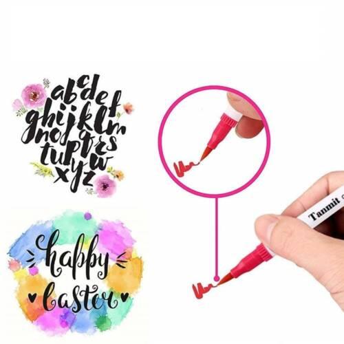 36 Farben Set Stifte für Handlettering Aquarellstifte Filzstifte Pinselstifte