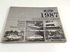 1987 Ford Tempo Topaz Escort Lynx Do-It-Yourself Service Manual