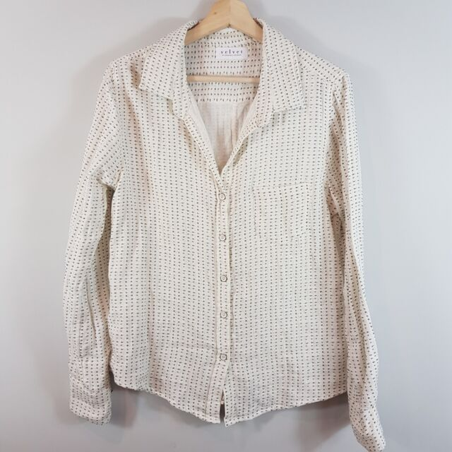 ANTHROPOLOGIE   Womens Flannel Print Blouse Top NEW [ Size L or AU 14 / US 10 ]
