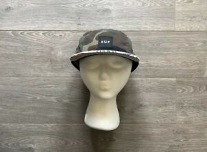 Rare-HUF-F-ck-It-5-Panel-Camp-Cap-Camo-RWB-Skate-Streewear-Hat-Rare-Old-Stock