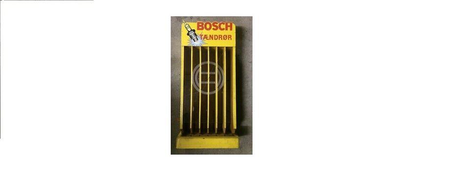 Bosch tændrørsreol i træ købes andre gl. træ r...