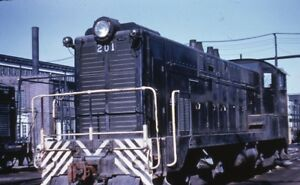 WABASH-Railroad-Locomotive-201-Original-1971-Photo-Slide