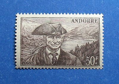 Andorra Stamps 1944 Andorra French 50 Fr Scott# 104 Michel # 140 Unused Nh Cs28079