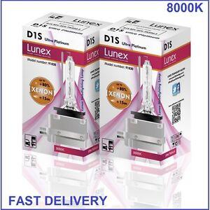 2-x-D1S-LUNEX-XENON-LAMPARAS-8000K-BOMBILLA-compatible-con-66043-66144-85410-UPT
