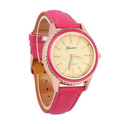 Fashion Vogue Women's Men's Unisex Geneva Faux Leather Analog Quartz Wrist Watch