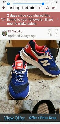 New Balance 997 Athletic Sneakers PR997HEB Blue Neon White Boys Size 12 NWOB!