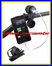 Doppia presa USB universale MOTO SCOOTER per carica batteria Navigatore Telefono