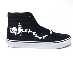 19cb8c388a Vans Sk8 Hi Peanuts Snoopy Bones Black Men s 11.5 Skate Shoes New ...