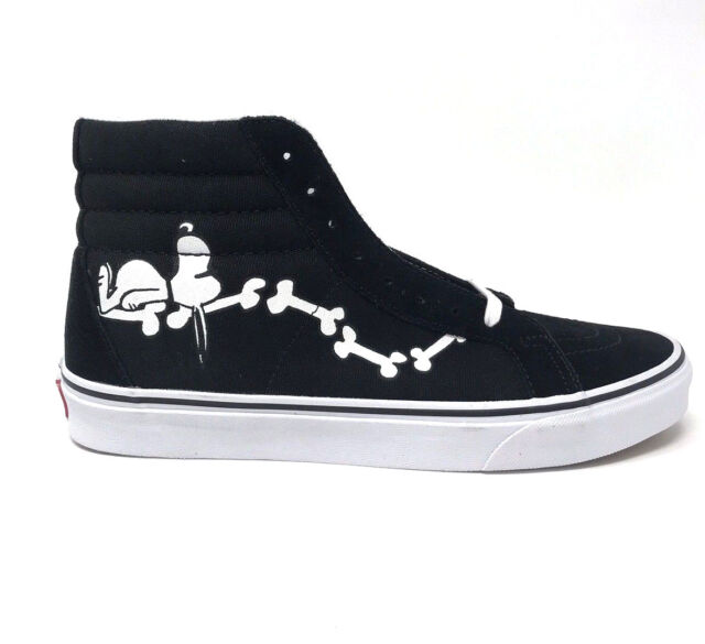 b4a04f53c35f02 Vans Sk8 Hi Peanuts Snoopy Bones Black Men s 11.5 Skate Shoes New Joe