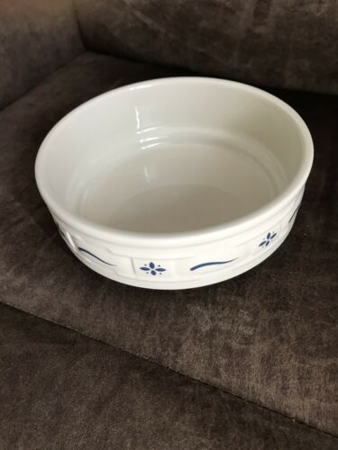 Never Used! Longaberger Pottery Stackable Cereal Bowl Traditional Blue USA