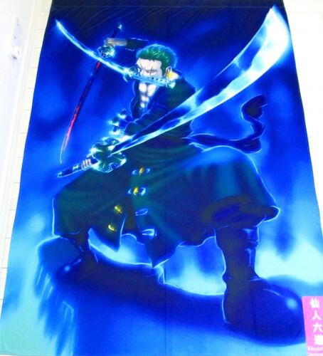 One Piece Zoro Anime Manga Bettdeckenbezug Bettbezug Polyester 150x220cm Neu