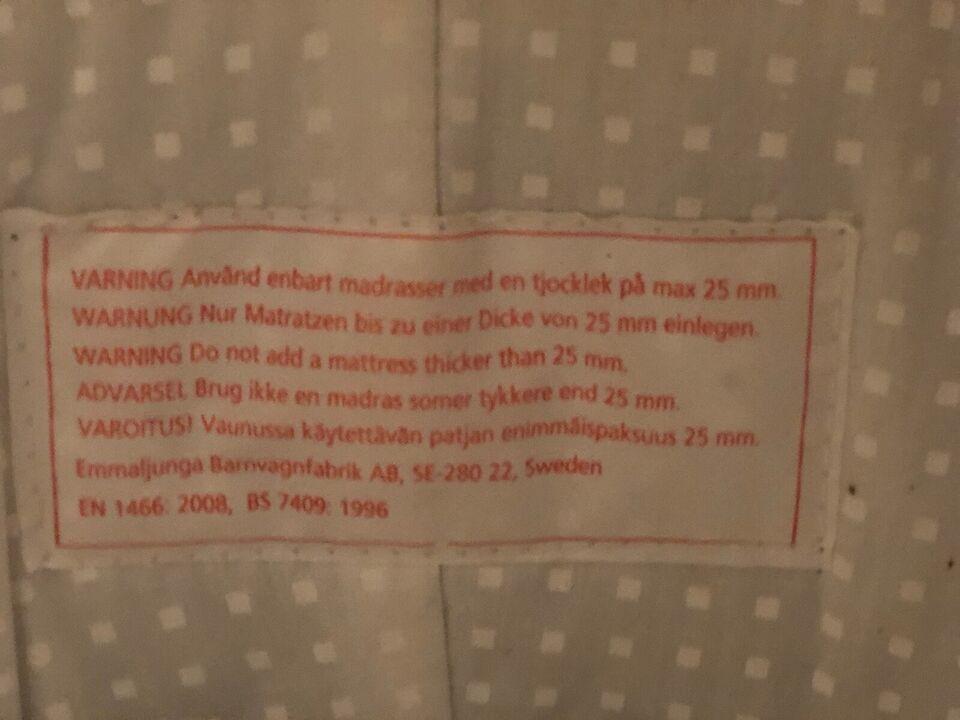 Lift, Emmaljunga Emmaljunga Sort , liggemål (cm): 76