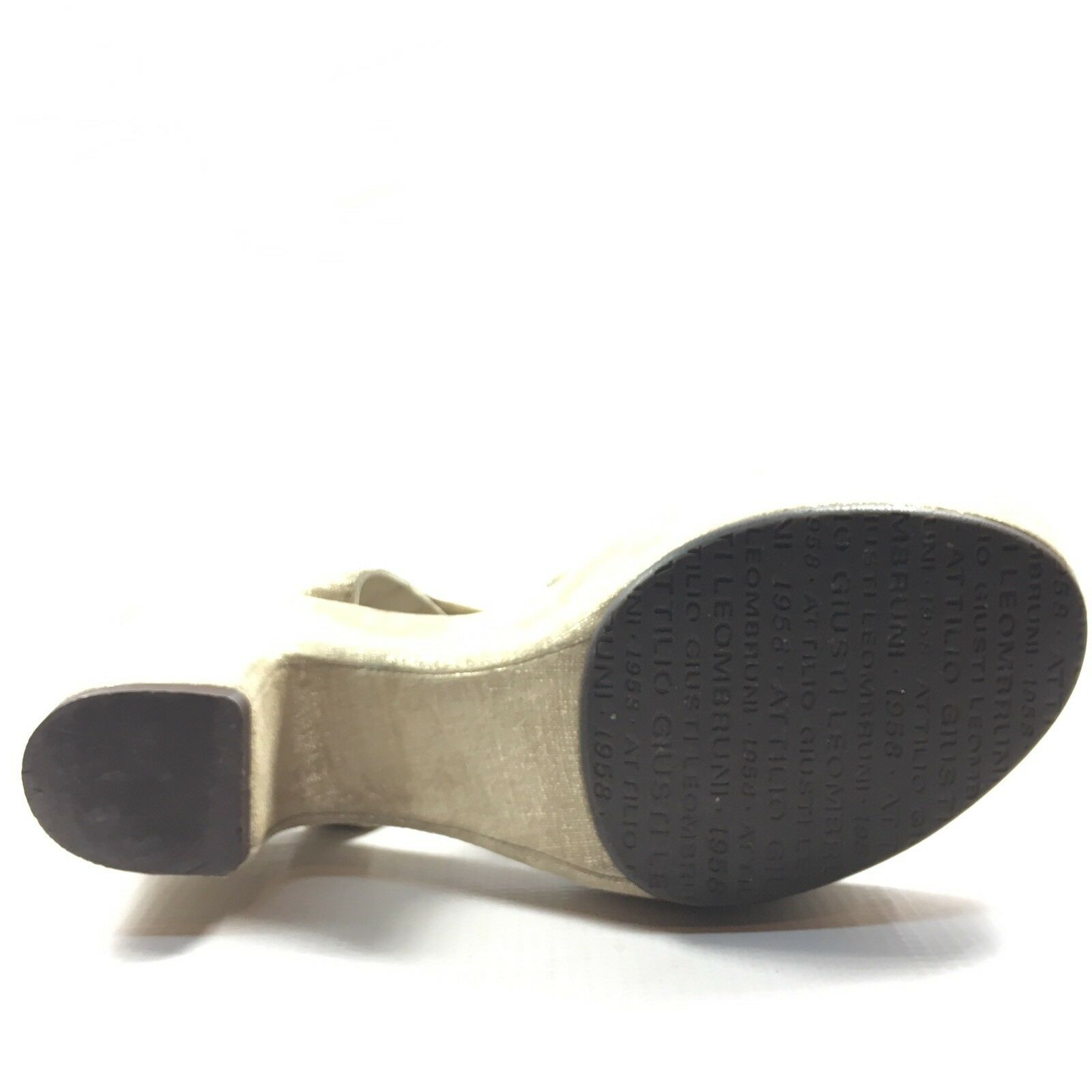 AGL Attilio Giusti Leombruni Leombruni Leombruni Platform Taupe Wedge Sandals Women's Size 38.5 M 64f93d