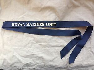 Original-Britanico-Real-Naval-Royal-Marines-Unidad-Tapa-Tally-Genuino-Numero