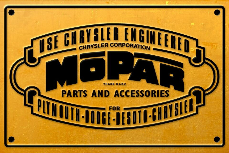 Skilte, Mopar parts and accessories metalskilte