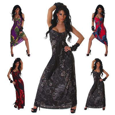 Neckholder Maxikleid lang Dress Tanz & Party Sexy Kleid Sommer Größe 34 36 38