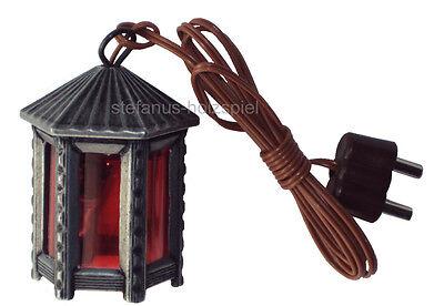 Krippenlaterne, Zinn-Laterne sechseckig f.Krippe 3,5V Krippenlampe Kahlert 20450
