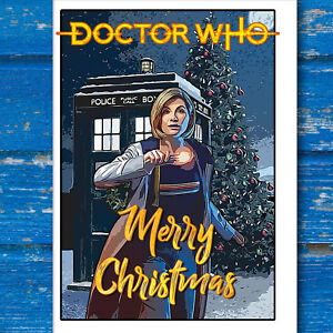 Doctor Who Christmas Cards.Details About Doctor Who Christmas Card With Jodie Whittaker The 13th Doctor And The Tardis