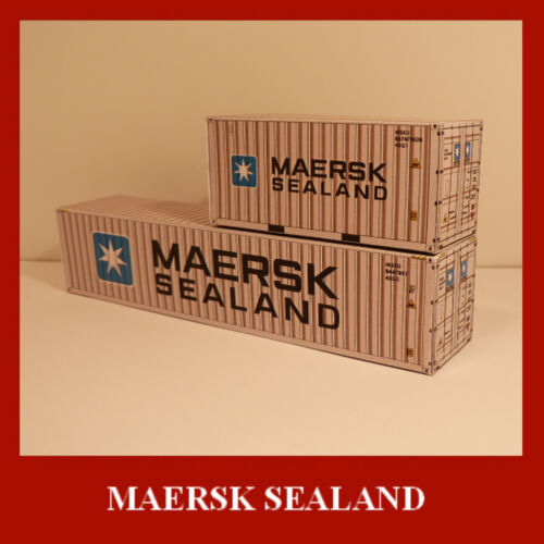 Maersk Collection Card Kits Model Shipping Containers x 12 inc Free HO Scale