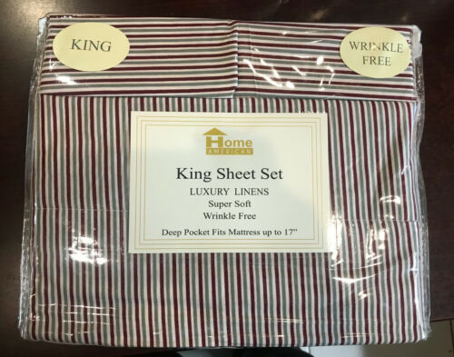Home American Collection Premium 4-Piece Printed Sheet Set Wrinkle Free LUXURY