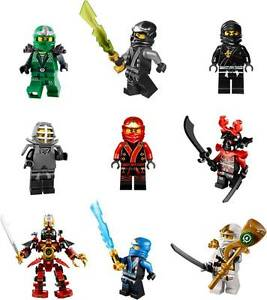 Image is loading NINJAGO-LEGO-9-CHARACTERS-Decal-Removable-WALL-STICKER-