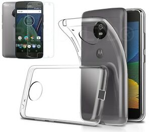 Clear-Slim-Gel-Case-and-Glass-Screen-Protector-for-Motorola-Moto-G5-2017