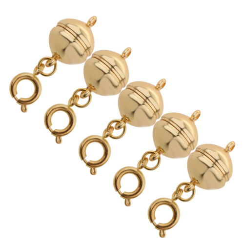 5Pcs Easy Magnetic Clasp Converter for DIY Necklace Bracelet Jewelry Making
