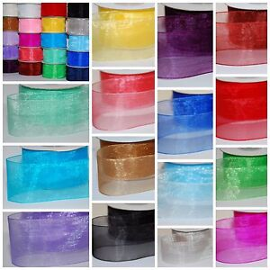 Many-Colours-PREMIUM-Quality-Woven-Edge-ORGANZA-Ribbon-CUT-3-6-12-19-25-38mm