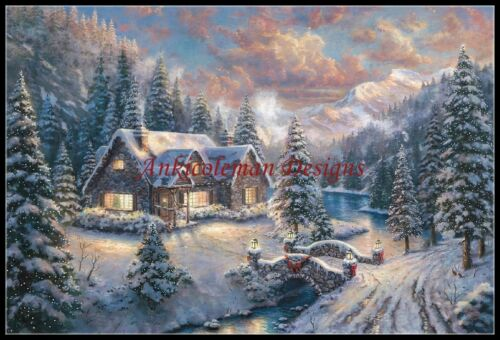 High Country Christmas Counted Cross Stitch Pattern Needlework for embroidery