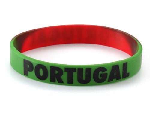 Portugal Pulsera De Silicona Copa del Mundo de fútbol Euro portugués
