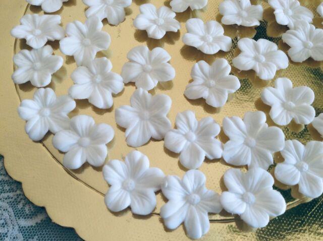 Tortenaufleger Zuckerblumen Hochzeit Muffins Fondant Tortendeko Kuchendeko