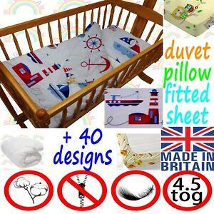 CRIB-bedding-DUVET-FITTED-SHEET-PILLOW-cradle-BEDDING-SET-boy-girl-baby