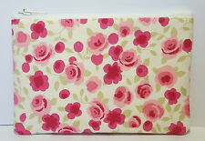 Ditsy Rose Floral Fabric Handmade Zippy Coin Purse Storage Pouch