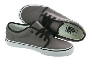 0781cef3da Image is loading VANS-106-VULCANIZED-PEWTER-BLACK-CANVAS-SKATEBOARD-SHOES