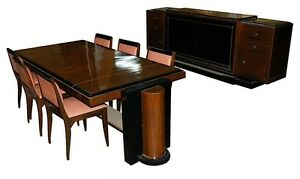 Rosewood-Lacquered-8-piece-Art-Deco-Dining-suite-1816
