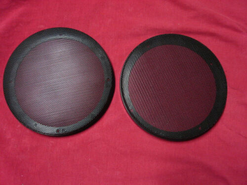 "pair of round 6-3//4/"" SPEAKER GRILLE rv car trailer black stereo cover"
